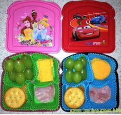 using cupcake liner for for kids snack dividers