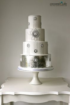 By Consumed by Cake. Cake Wrecks - Home 1920s Wedding Cake, Great Gatsby Wedding, Art Deco Wedding, Beautiful Wedding Cakes, Gorgeous Cakes, Pretty Cakes, Wedding Dress, Bling Wedding, Perfect Wedding