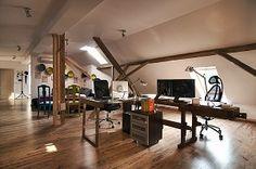 Oficina, decoración, moderna, urbana, rústica - copia