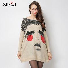 New 2017 Autumn Long Women Sweater Clothing Casual Novelty Women's Sweaters Pullovers Fashion Print Ladies Pullover Clothes #XIKOI #sweaters #women_clothing #stylish_sweater #style #fashion