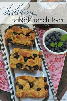 Spice up that boring breakfast with our Blueberry Baked French Toast #Recipe