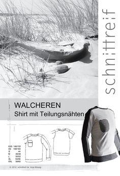 Oberteile & Jacken - Schnittmuster, Herrenshirt WALCHEREN - ein Designerstück von schnittreif bei DaWanda