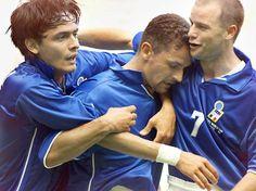 Italia. World Cup'1998. Roberto Baggio + Filippo Inzaghi + Gianluca Pessotto.