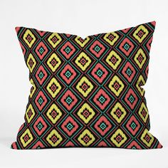 Jacqueline Maldonado 'Zig Zag Ikat' Throw Pillow