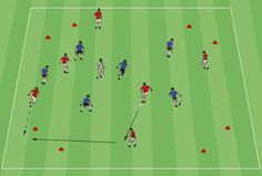 Spread the field with gates is a great possession game for players to work on connecting passes with each other and switching the field. Soccer Passing Drills, Soccer Training Drills, Football Drills, Soccer Coaching, Football Boys, Soccer Practice, Soccer Games, World Cup Russia 2018, Soccer Players