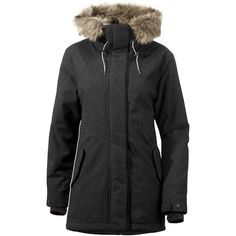 Eminently desirable, the Didriksons Siri Parka in Coal has a vintage wool feel. Soft and luxurious, but very waterproof with taped seams and warm for winter. Womens Parka, Jacket Brands, Siri, Vintage Wool, Rain Wear, Outdoor Outfit, Jackets Online, Snow Boots, Canada Goose Jackets
