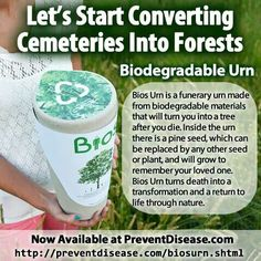 Urn that will turn your ashes into a tree after you die.
