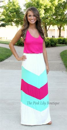 Summer Lovin Maxi Mint and Pink CLEARANCE!!