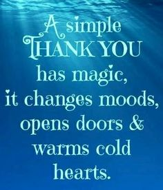 Thank you quote via Carol's Country Sunshine on Facebook