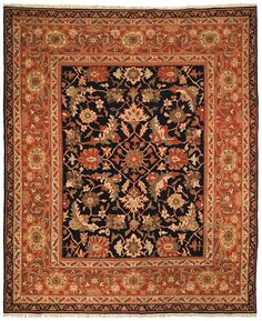 ZM16B Rug from Zeigler Mahal collection. Safavieh's Ziegler Mahal Collection is based on authentic 19th century Persian designs. Exclusively hand-woven for Safavieh in Central Asia.This collection