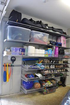 Garage organization for sports and bulk items  Before and afters of garage organization project  twoinspiredesign | two friends, two design perspectives, endless inspiration for your home
