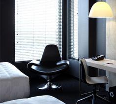 LEMAYMICHAUD   ALT   Halifax   Architecture   Design   Hospitality   Hotel   Room   Bed   Chair   Lighting   Window   Desk Window Desk, Hotel Design Architecture, Gaming Chair, Hospitality, Windows, Lighting, Quebec, Room, Furniture