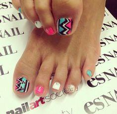 Aztec nails by esnail