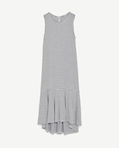 Image 8 of LONG DRESS WITH RUFFLED HEM from Zara