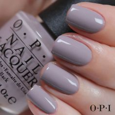OPI Gelcolor - Taupe-Less Beach! A slate purple. Shown in lacquer, but comes in gel too.