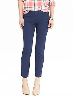 """Womens The Pixie Ankle Pants fabric & care 95% cotton, 5% spandex. Double hook-and-bar closure, with interior button closure. Plain front. Slant pockets in front; decorative faux welt pockets in back. Smooth medium-weight twill with added stretch. Four-way stretch for a supremely flattering fit and feel. Sits below waist. Snug through hip and thigh. Hits above ankle 27"""" inseam 12"""" leg opening"""