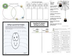Spider Activities And Games That Teach  Venn Diagram Template