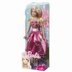 Toate fetele vor sa fie o printesa Barbie® iar acest basm ia o turnura surpriza! Printesa Barbie® isi conduce regatul prin frumusete si istetime, stil si aventuri pline de substanta care o fac din starul covorului roz o eroina a propriului oras care are grija de intregul pamant fiind desigur pregatita si pentru balul de seara! Printesele Barbie® sunt imbracate in rochii de petrecere amuzante, la moda, de petrecere acoperite cu sclipici si asortate cu o coronita fabuloasa.