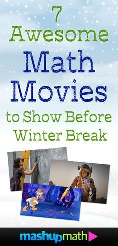 Are you looking for math movies to show your elementary or middle school kids before winter break, holiday break, or Christmas break or vacation?