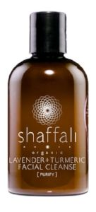 SHAFFALI: LAVENDER + TURMERIC CLEANSER    WITH THE FOLLOWING KEY INGREDIENTS, SHAFFALI IN THEIR LAVENDER + TURMERIC CLEANSER DOES A GENTLE YET EFFECTIVE CLEANSE FOR OILY, COMBO SKINS THAT EVEN YOUR GUY FRIENDS WILL BE STEALING.    INGREDIENTS INCLUDE:    INDIAN SANDALWOOD, EGYPTIAN GERANIUM, FRENCH LAVENDER, AND TURMERIC.