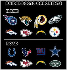 Oakland Raiders 2013 Opponents