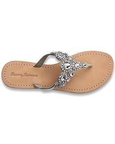 Wedding Crystal Flat Sandals - Tommy Bahama $168. Loveeeee these!