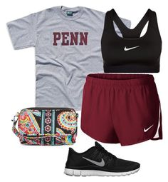 A fashion look from December 2015 featuring NIKE activewear shorts, NIKE sports bras and NIKE shoes. Browse and shop related looks. Adrette Outfits, Lazy Day Outfits, Cute Comfy Outfits, Sporty Outfits, Athletic Outfits, College Outfits, Everyday Outfits, School Outfits, Vera Bradley