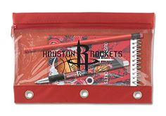 National Design NBA Houston Rockets Red Back to School Set  Pouch Notepad Pen  Pencil 14234NBABKPR * Be sure to check out this awesome product.Note:It is affiliate link to Amazon.