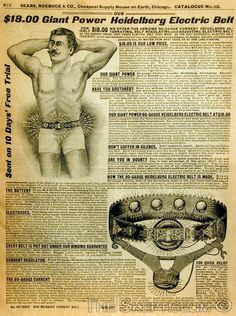 Electropathy (1850s - 1930s): As electricity became more and more a part of people's lives in the 19th century, there was natural curiosity about the technology's curative powers.