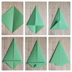 Plus de 1000 id es propos de origami sur pinterest - Comment faire un sapin en papier ...