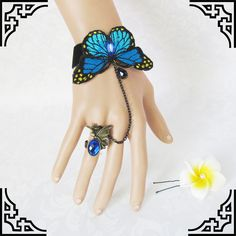Blue Butterly Crystal Fashion Women's Rings Bracelets [blue02] - $12.99 : Fashion jewelry promotion store,Supply all kinds of cheap fashion jewelry