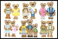 Tear Bear, Dog, Cat and Bunny Patterns with Clothing