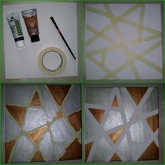 #art #pictur #paint #creative #craft #crafting #hobby #silver #tape