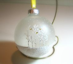 Craft Glass Ornament Ideas | Hand Painted Glass Christmas Ball Ornament by just4christmas, $15.00