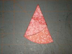 A Creative Operation: FOLDED CHRISTMAS TREES! Any size 1/2 circle. Measure diameter & divide by 4. This is the point at which you make the first score. Then fold according to instructions on site.