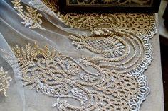 Beige bridal beaded lace I Bridal beaded lace I Handmade beaded lace I Luxury Fancy lace I Beaded lace I Bridesmaid lace I Lace fabric by SixthCraft on Etsy