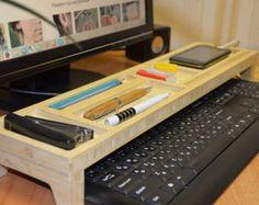 Wooden Keyboard Rack Desktop Accessories Storage Desk by GardenXHK