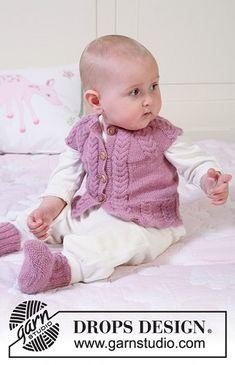 Copánková vestička a botičky – PLETENÍ – NÁVODY Baby Knitting Patterns, Baby Booties Knitting Pattern, Knit Vest Pattern, Knitted Baby Cardigan, Knit Baby Sweaters, Knitting For Kids, Baby Patterns, Free Knitting, Häkelanleitung Baby