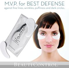 Don't let dark circles make you look like you're suiting up for the big game. #BeautiControl #DarkCircles #PuffyEyes #MVP