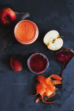 // Beet, Carrot, and Apple Juice