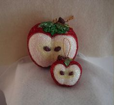 Big Apple and Little Apple Egg Ornament