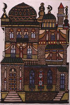 Το σαράι του Πασά Greek Paintings, 10 Picture, Naive, Primitive, Taj Mahal, Greece, Folk, Fine Art, Gallery