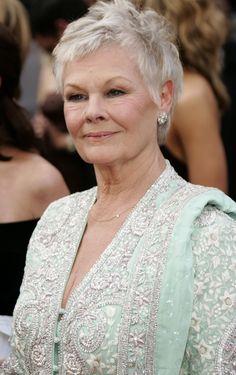 unlikely sex symbols for Beauty is ageless if you leave it well alone. Judi Dench seems to have done a good job.Beauty is ageless if you leave it well alone. Judi Dench seems to have done a good job. Judi Dench, 50 And Fabulous, Ageless Beauty, Emma Thompson, Aging Gracefully, Actors, Famous Faces, Ikon, Dame