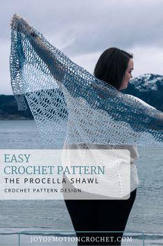 Procellas Shawl Crochet Pattern Design, easy crochet pattern, shawl crochet pattern idea, quick crochet shawl pattern, crochet pattern shrug. #crochetpattern #crochetshawl #shawlcrochetpattern #crochet