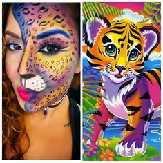 @isthatisa You were right!!! @lisa_frank #lisafrank #tiger all the way! Lol #feline #tigress #halloweenmakeup #halloween #glam #eyeshadow #colorful #makeup #tiger #lion #contour #highlight #wingedliner #eyebrows #lashes #makeupartist #glamgal #mua #prmua #maquillaje #maquillista #latina #puertorriqueña #boricua #glamgalbeauty