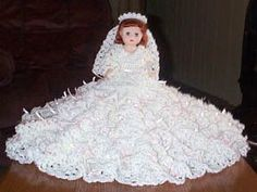 MEAGHAN BED DOLL PATTERN BY RICOCHET 1950   Crochet Bed Doll Patterns Free