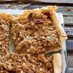 A delicious Apple Slab Pie with a pecan studded crumb topping – easier to make then a traditional apple pie and feeds a crowd.