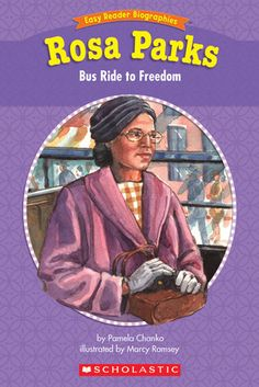 Easy Reader Biographies: Rosa Parks: Guided Reading Level J. Learn the story of Rosa Parks' famous bus ride, and the Montgomery Bus Boycott. This full-color storybook includes a timeline and a glossary! Rosa Parks Bus, Genre Study, Nonfiction Text Features, Guided Reading Levels, Easy Reader, Bus Ride, Helping Children, Native American History, Black History Month