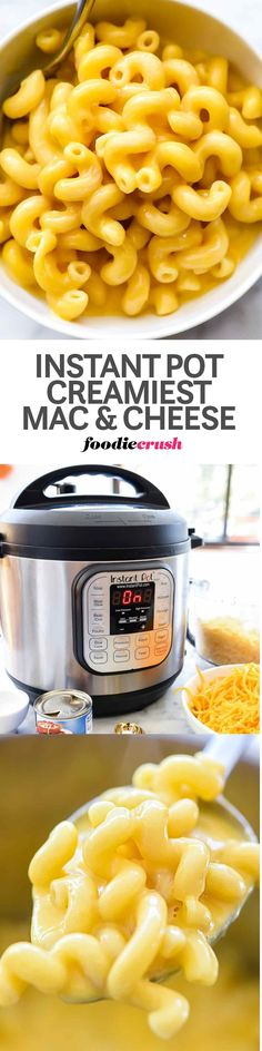In just 5 minutes cooking time (thank you Instant Pot!), this lush and creamy macaroni and cheese recipe is made with 100% real cheese and couldn't be easier or faster to make in the pressure cooker. Plus, I'm sharing 5 more recipe ideas for jazzing up this old-fashioned family favorite for adults and kids alike, especially when it's time to party. #instantpot #macaroniandcheese #macandcheesemania #recipes #foodbloggers #food #pressurecooker #cheese #macaroni