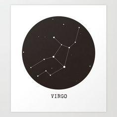 Virgo Star Constellation Art Print by clarissad – Constellation Tattoo Virgo Star Constellation, Star Constellations, Constellation Tattoos, Star Tattoos, Finger Tattoos, Tatoos, Tattoo Stars, Virgo Symbol, Virgo Star Sign